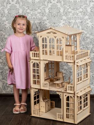 Кукольный дом трехэтажный