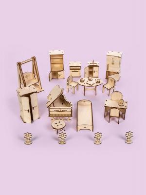 Набор мебели для кукол до 15 см (Спальня, Кухня, Рояль, Качеля)
