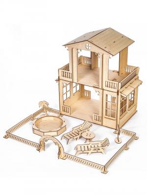 Кукольный домик «Усадьба» для больших кукол с бассейном