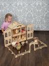 Кукольный домик «Распашонка» с МЕБЕЛЬЮ для средних кукол конструктор деревянный