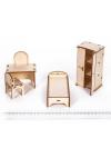 Мебель для МАЛЫХ кукол «Спальня» до 15 см конструктор для кукольного домика
